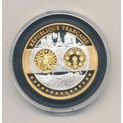 Médaille - 1ère frappe hommage Euro - France - Europa - argent