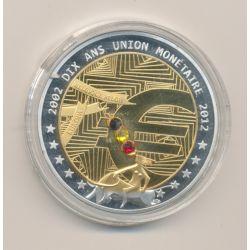 Médaille - 10 ans Union Monétaire 2002 - cuivre argenté - 40mm
