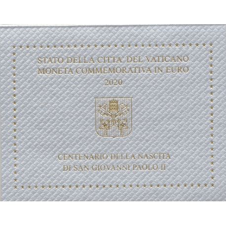 Vatican - 2 Euro 2020 - centenaire de la naissance de Jean Paul II