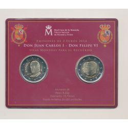 Coincard 2 x 2 Euro Espagne 2014 - Juan Carlos et Don Felipe VI