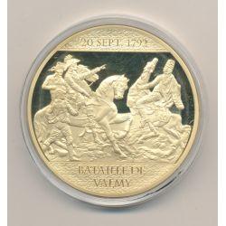 Médaille - Bataille de Valmy - 225 ans Révolution Française -  cuivre doré avec insert Swarovski -