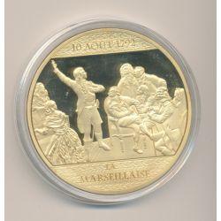 Médaille - La Marseillaise - 225 ans Révolution Française -  cuivre doré avec insert Swarovski -