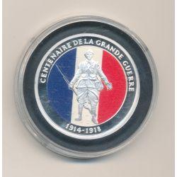 Médaille - centenaire de la grande guerre - 1914-1918 - couleur - nickel - 35mm
