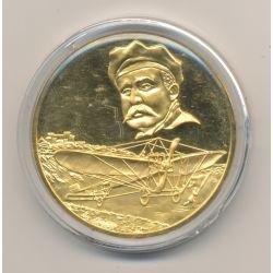 Médaille - Louis Blériot - Première traversée de la manche en aéroplane - vermeil - 45mm
