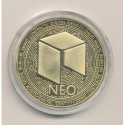 Médaille - Crypto monnaie Néo - doré