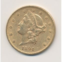 20 Dollars Or - 1894 S San Fransisco - Liberty head