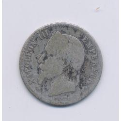 50 centimes Napoléon III - 1866 K Bordeaux - Tête laurée - B/TB