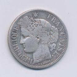 Cérès - 2 Francs - 1870 K Bordeaux - sans légende - TB