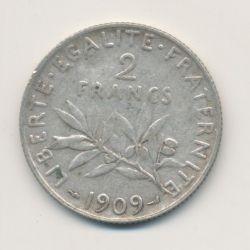 2 Francs Semeuse - 1909 - argent