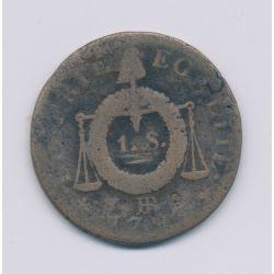 1 Sol aux balances - 1793 BB Strasbourg - cuivre - B