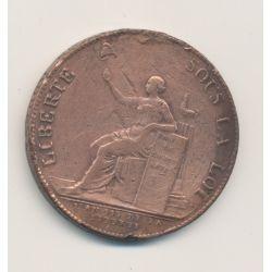 Monneron 2 Sols à la liberté assise - 1791 - AN 3 - TB