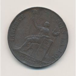 Monneron 2 Sols à la liberté assise - 1791 - AN 3 - TB/TTB