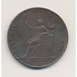 Monneron 2 Sols à la liberté assise - 1792 - TB/TTB