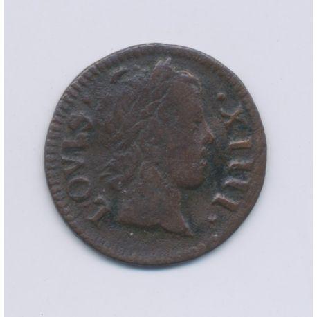 Louis XIV - Denier Tournoi - 1649 A Paris - cuivre - TB