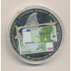 Médaille 40mm - Billet 100 Euro - 2001 - argentan