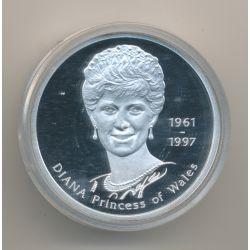 Médaille 39mm - Lady Diana Princesse de Galles - 1997 - argent