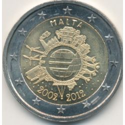 2€ Malte 2012 - 10 ans de l'euro