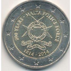 2€ Malte 2014 - 200 ans Police Malte