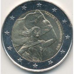 2€ Malte 2014 - 50e anniversaire indépendance - 1964