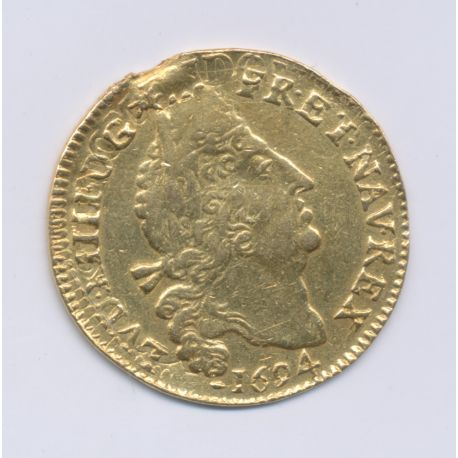 Louis XIV - Louis d'or aux 4L - 1694 B Rouen