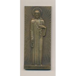 Médaille - Jésus Christ - bronze - 1930 - par E.J Vézien - TTB+