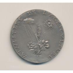Médaille - Minisitère agriculture - mutualité coopération crédit - argent - 51mm - TTB+