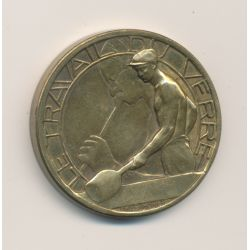 Médaille - Exposition Internationale Paris 1937 - Arts et techniques - Travail du verre -