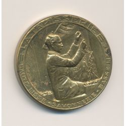 Médaille - Exposition Internationale Paris 1937 - Arts et techniques - La tapisserie - laiton - 32mm