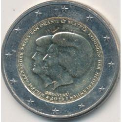 2€ Pays-Bas 2013 - Béatrix et Prince Willem-Alexander