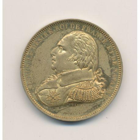 Médaille - Louis XVIII - Série métallique des Rois de France - cuivre - 31mm