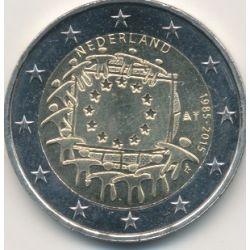 2€ Pays-Bas 2015 - 30 ans drapeau européen