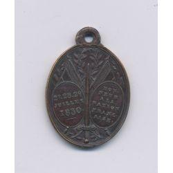 Médaillon - Journées 27 et 29 juillet 1830 - bronze - TTB