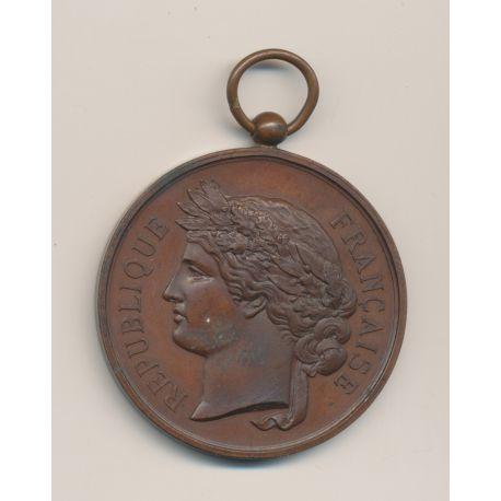 Médaille - Société Nationale du tir des communes de France - médaille d'honneur - bronze - 51mm - TTB+