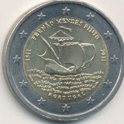 2€ Portugal 2011 - 500e anniversaire naissance Fernao mendes Pinto