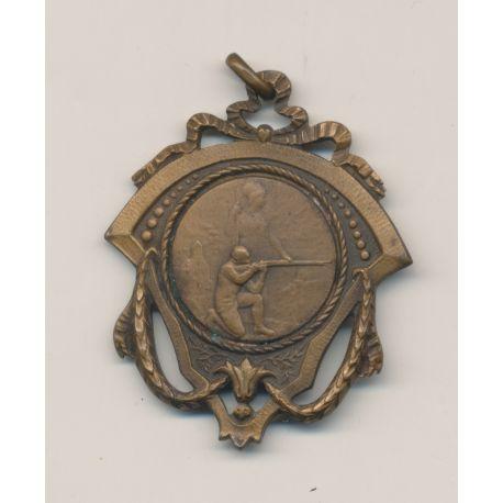 Médaillette - Thème sur le Tir - bronze - TTB