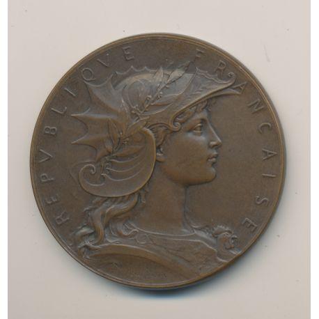 Médaille - Concours de Tir - 1904 - bronze - 51mm - TTB+