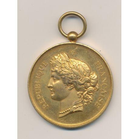 Médaille - Société de Tir - Championnat de 1887 - bronze doré - 46mm - SUP+