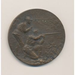 Médaille - 13e concours de Tir - Nancy 1906 - par Marey - bronze - 36mm - TTB