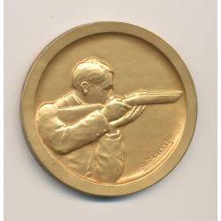 Médaille - Sous secrétariat d'état de l'éducation physique - Tir - bronze doré - 50mm - SUP