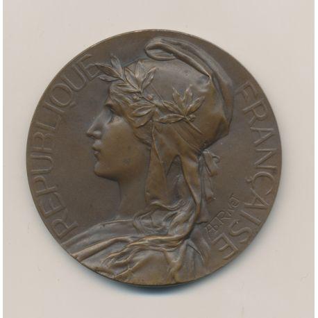 Médaille - Thème sur le Tir - bronze - 50mm - par Rivet - TTB+
