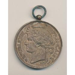 Médaille - Société nationale du tir des communes - médaille d'honneur - bronze argenté - 51mm - TTB