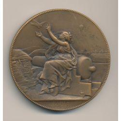 Médaille - Communications aériennes - 1870-71 - bronze - 63mm - C.Degeorge - TTB+