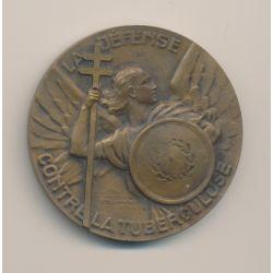 Médaille - Défense contre la tuberculose - bronze - 50mm - TTB
