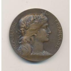 Médaille - Aux grands morts aux grands soldats des Vosges - 1920 - bronze - 32mm - TTB+