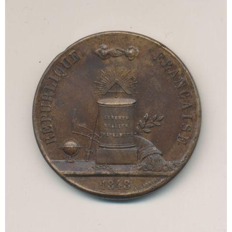 Médaille - 2e Légion de Paris à la Ville d'Evreux - 1848 - bronze - 34mm - TTB+
