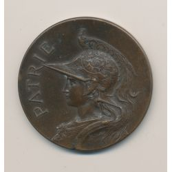 Médaille - Buste femme cuirassée - Patrie - bronze - 41mm - TTB+