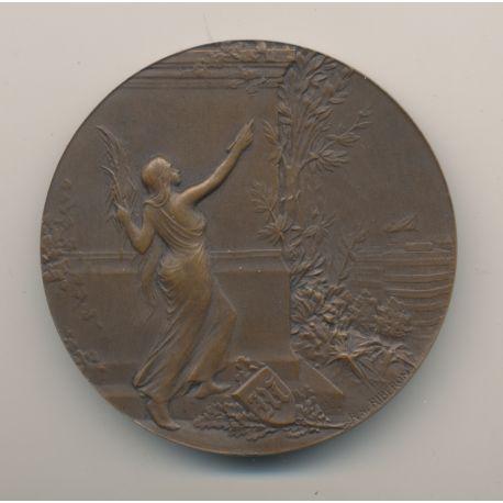 Médaille - Journal Le Matin - par Riberon - bronze - 51mm - TTB+