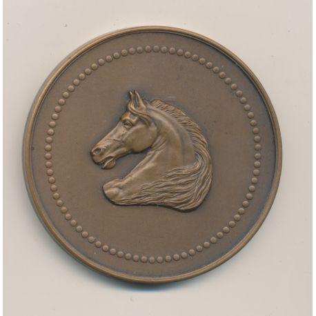 Médaille - Raid des Officiers de 2e Ligne - Journal Le Matin - H.Dubois - bronze - 50mm - TTB+