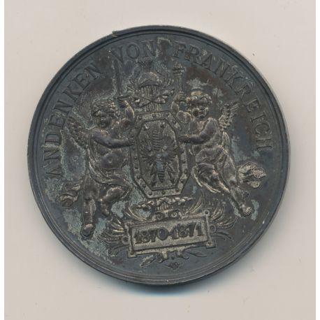 Médaille - Souvenir de la Guerre contre la France - 1870-1871 - andenken vom kriege gegen frankreich - bronze argenté - 51mm