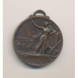 Médaille - Orphelinat d'Arvernes - Chemin de fer des colonies - 1917 - bronze - 30mm - TTB+